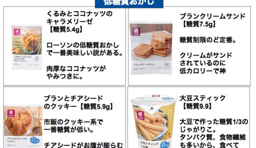 ローソンの低糖質なお菓子13選【人気の糖質制限中おやつ決定版】