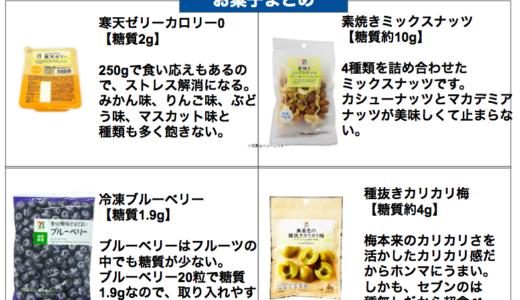 セブンの糖質制限お菓子8選まとめ【低糖質ダイエット】
