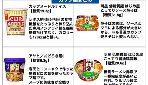 低糖質なカップ麺オススメまとめ【ダイエット中にコンビニで買える!】
