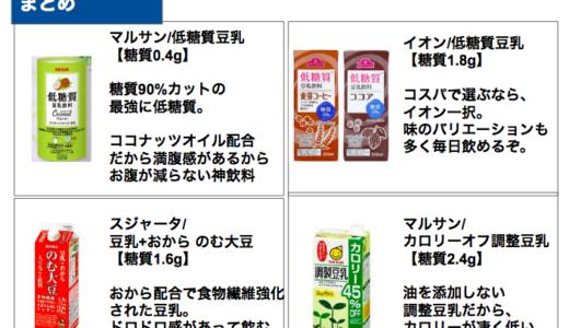 低糖質な豆乳おすすめランキング【糖質量3g以下で選んだ】