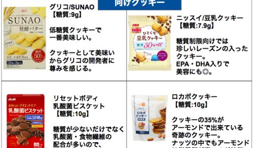 低糖質のビスケット・クッキーまとめ【糖質制限ダイエットに食べれる低カロリー】