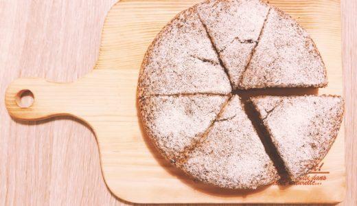 おからパウダーで作るホールで僅か100㌍紅茶ケーキ【低糖質レシピ】