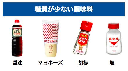 糖質制限でおすすめな低糖質な調味料【NGもあり!】