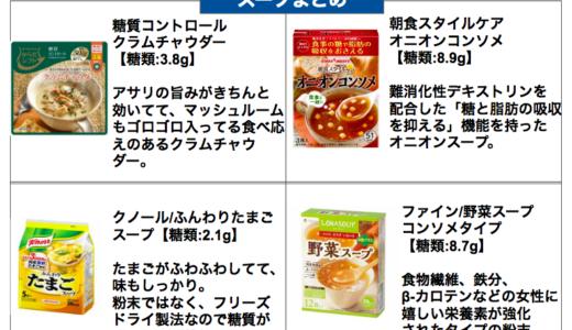 低糖質なインスタントスープまとめ【糖質制限ダイエット向け】